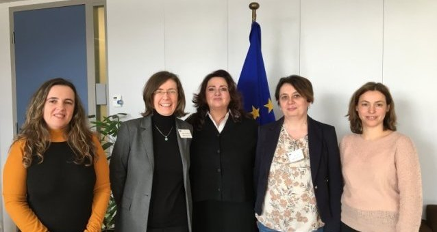 EWL's President and Vice-Presidents meet Commissioner for Equality Helena Dalli to discuss women's rights in Europe and the upcoming EU strategy on equality between women and men.