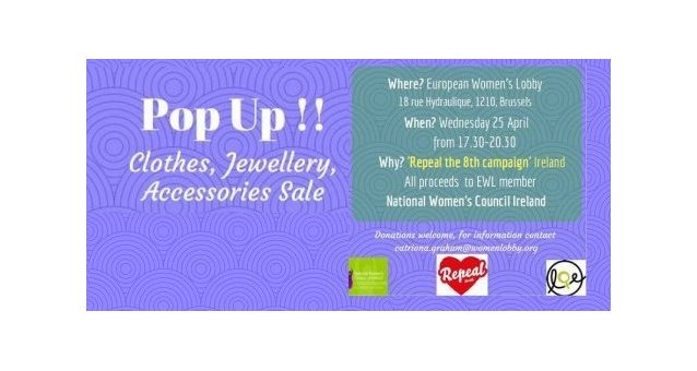 Pop up for Repeal! 25 April 2018 in Brussels!