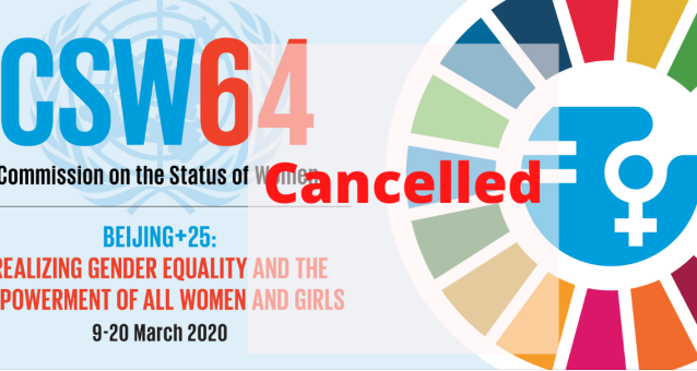 Commission on the Status of Women 64 cancellation : European Women's Lobby participation
