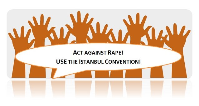 Successful mobilisation of EWL members across Europe: Act against rape! Promote the Istanbul Convention!