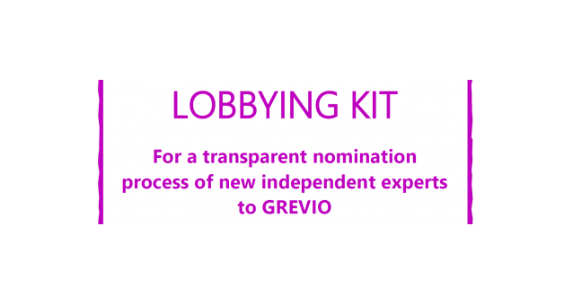 EWL Lobbying kit for the nomination of 5 new GREVIO experts