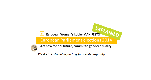 Week -7: Sustainable funding for gender equality