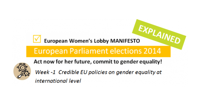 Week -1: Credible EU policies on gender equality at international level