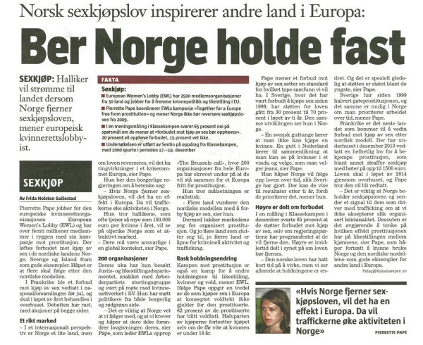 article klassekampen ewl january 2014 small